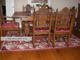 antique french oak dining table and chairs. antique oak dining room furniture carved set 1 lgw french table and chairs