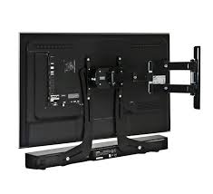 panasonic tv wall mount. angled view of the b-tech btv914 universal soundbar bracket used with tv wall panasonic tv mount