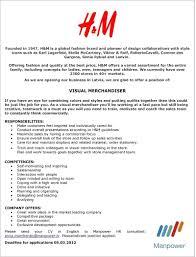 Contemporary Visual Merchandising Resumes Model Documentation