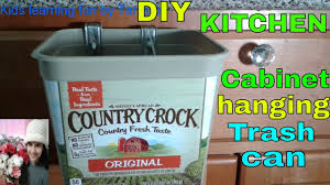Diy Kitchen Cabinets Hanging Trash Canbin Out Of Country Crock