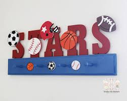 Sports Coat Rack Sports Theme Decor Boys Nursery Decor Sports Nursery 10