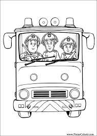 Brandweerman Sam Kleurplaat Brandweer Feestje Sam El Bombero