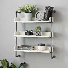 white bathroom wall shelf