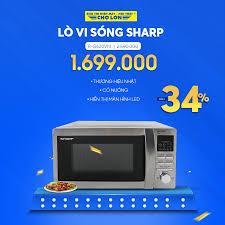 ▪️ Lò Vi Sóng SHARP R-G620VN giảm 34%... - Siêu Thị Điện Máy - Nội Thất Chợ  Lớn