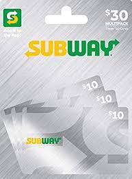 Amazon.com: Subway MP Gift Card $30: Gift Cards