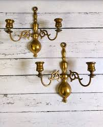 vintage brass wall sconces made in