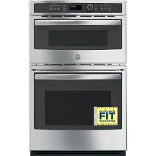 electric wall oven with built in microwave in stainless steel