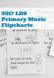 Primary Flip Charts A Lively Hope 2017 Lds Primary Music Flipcharts