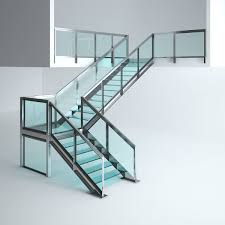 Office Stairs Office Glass Stairs 3d Cgtrader