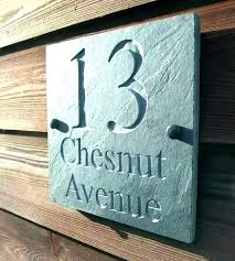 contemporary house number plaques numbers decoration address sign modern signs outdoor industrial