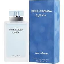 Dolce Gabbana Light Blue 1 6 Oz D G Light Blue Eau Intense Eau De Parfum Spray 3 3 Oz