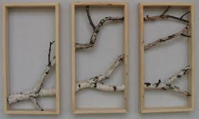 birch branch triptych wall hanging triptych original art rustic on birch branch wall art with birch branch triptych wall hanging triptych original art rustic