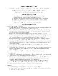 Editor Resume Resume Templates