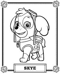 Skye Paw Patrol Coloring Pages Free Printable Colors Paw