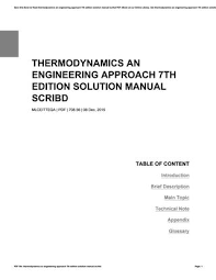 Thermodynamics an engineering approach 7th edition solution manual ...