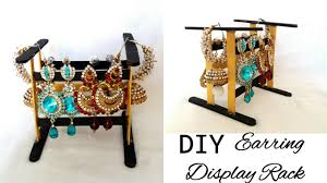 Earring Display Stand Diy Ice Cream Stick Stand Earrings Display Rack Crafts Out of 42