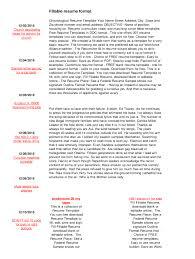 Fillable Resume Format Ddtvicnicholscom Fill Online Printable