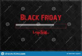 Black Friday Loading Written In Red Text And Gradient