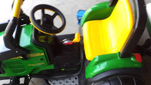 john deere by peg perego hooked to 12v car battery