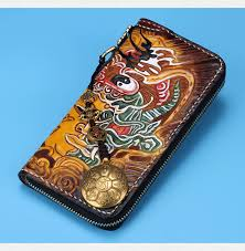 hand tooled mens wallet