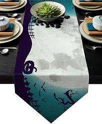 Libaoge Coffee Table Runner The Horror Night <b>Halloween Theme</b> ...