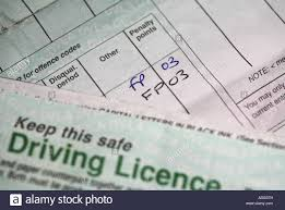 Alamy 13311712 On Uk Driving Photo - Licence Points Penalty Stock