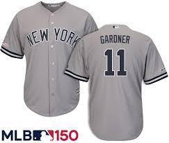 Brett Gardner New York Yankees Road Mlb 150 Jersey By Majestic