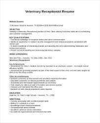 Receptionist Resume Amazing Receptionist Resume Template 40 Free Word PDF Document Download