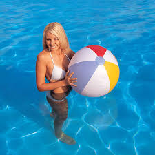 beach ball in pool. INFLATABLE 24\ Beach Ball In Pool