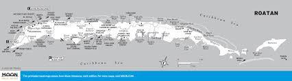 printable travel maps of honduras  moon travel guides