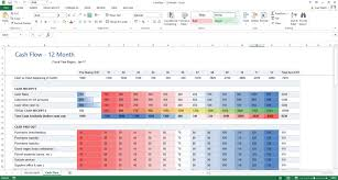 Cash Flow Excel Template Excel Template Cash Flow Forecast With Conditional