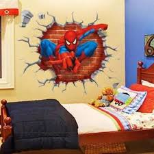 3d spiderman wall stickers avengers
