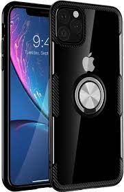 Amazon.com: iPhone 11 Pro Max Case 6.5 inch 2019, Carbon Fiber Design Clear  Crystal Anti-Scratch Case with 360 Degree Rotation Ring Kickstand(Work with  Magnetic Car Mount) for iPhone 11 Pro Max,Black