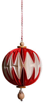 Casalanas Christbaumschmuck Kugel Mit Zierperle Aus Holz 9x9 Cm Rot Weiß Art Nr 3351