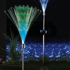 lighting outdoor lighting led solar lights set of 2 solar fiber optic light