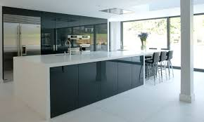modern white cabinet doors. a contemporary kitchen with black brown cabinets, high gloss white modern cabinet doors i