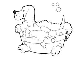 Kleurplaat Hond Wassen Afb 30673 Images