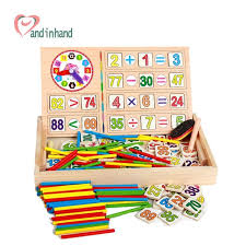 Wooden Math Games Toys For Children Wooden Counting Math Game Mathematics Kids Toys 64