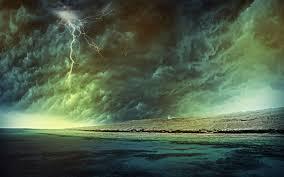storm weather rain sky clouds nature sea ocean beach landscape lightning tornado wallpaper