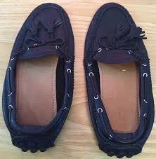 coach nadia brown leather driving loafers moccasin women s shoes for