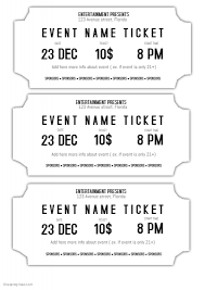 event ticket template free ticket template under fontanacountryinn com