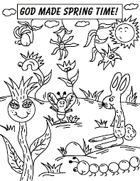 Spring Coloring Pages God Made Spring Time Free Printable Coloring