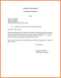 Confirmation Of Employment Letter Verification Of Employment Letter For Former Employee Past