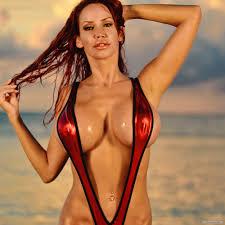 Bianca Beauchamp Red Sling Bikini Look Im Online