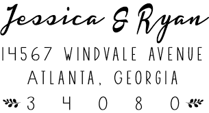 The Simply Classic Address Stamp — Kristi Anne Design