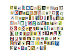 Newspaper Magazine Alphabet With Letters Numbers Art Print By Donatas1205 Art Com