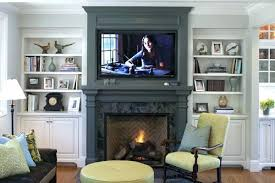 mounting tv above brick fireplace mount over flat screen