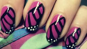 Difficult Nail Art Designs Monarch Butterfly Wing Nail Art Tutorial