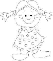 Small Picture Little girl coloring page