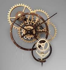wooden gear clock mechanical clock